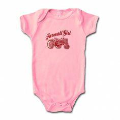 IH Farmall Infants Pink Onesie - Farmall Girl