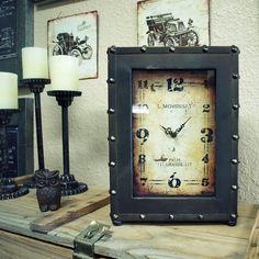 Rustic Clock | Industrial Square Clock | Farmhouse Military Box Clock | BelloLane.com