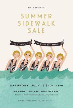 "Rifle Paper Company ""Summer Sidewalk Sale"" advertisement"