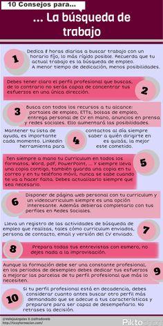 ¿Buscas trabajo? 10 consejos | #Infografía
