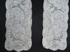 Valenciennes lappets ~1740 Passementerie, Antique Lace, Bobbin Lace, Collars, Cuffs, Paris, Tools, Antiques, Pretty