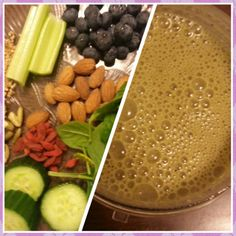 Post workout green smoothie:-  1 inch of cucumber handful of mixed organic greens 15 blueberries 1 tsp goji berries 1 tsp flaxseeds 10 almonds 1 tsp protein mix water - add all the above ingredients and blend it to a smoothie and yum yum :)