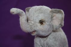 Cheenee OOAK Needle Felted Baby Elephant by Marina Goltyaeva Toby Tbaaf Awards | eBay