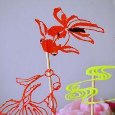 Un air de bassin asiatique, des poissons rouges fait au stylo 3D avec maypopstudio.com #maypopstudio #stylo3D #3DPen #3DCreation #DIY #craft #deco #handmade #fait-main #loisircreatif