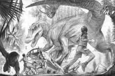 Jurassic Park Concept Art - Curious Dilophosaurus by IndominusRex on DeviantArt Dinosaur History, Dinosaur Movie, Dinosaur Images, Dinosaur Art, Jurassic World Dinosaurs, Jurassic World Fallen Kingdom, Jurassic Park World, Dinosaur Sketch, Dinosaur Drawing