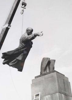 Lithuanian Photographer Sutkas's  Good-bye Party Comrades! [Lenin]