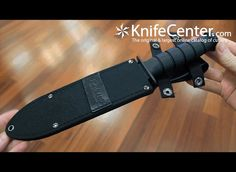 "KA-BAR 1271 Fighter Knife 8"" Combo Blade, Kraton G Handle, Leather / Cordura Sheath - KnifeCenter - 2-1271-0"