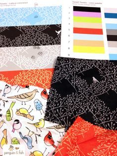 How to make a fabric collection - a designer's perspective. via penguinandfish.blogspot.com