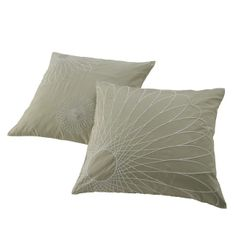 Spirograph by Siw Matzen. Cushion cover in 100% silk, with white cotton embroidery. www.lignerosetsf.com #LiveBeautifully