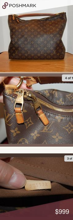 Louis Vuitton sully hobo bag Excellent condition, inside has a little wear and tear stains but other then that excellent Louis Vuitton Bags Hobos
