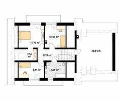 Wolta projekt domu - Jesteśmy AUTOREM - DOMY w Stylu Design Case, House Plans, Sweet Home, Floor Plans, House Design, How To Plan, Houses, House Beautiful, House Floor Plans
