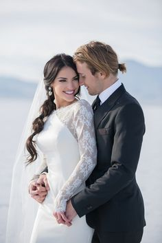 A puff ponytail is a unique way to wear your hair at your wedding.