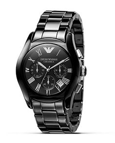 Emporio Armani Oversized Round Chronograph Watch, 42 mm