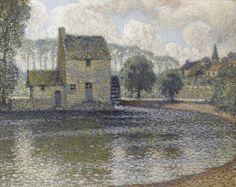 The Grey Mill, Montreuil-Bellay, Henri Eugène Augustin le Sidaner Port Louis Ile Maurice, Manet, Modern Art, Contemporary Art, Icelandic Artists, Saumur, Post Impressionism, French Artists, Vincent Van Gogh