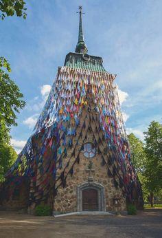 Textile art by Kaarina Kaikkonen at Mäntä Church, Finland | mäntän kirkko kaarina kaikkonen - Google-haku