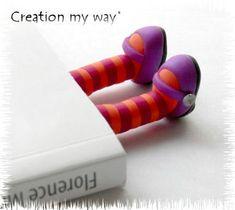 """marque-page """"gambettes"""" idée marrante de Création My Way"""