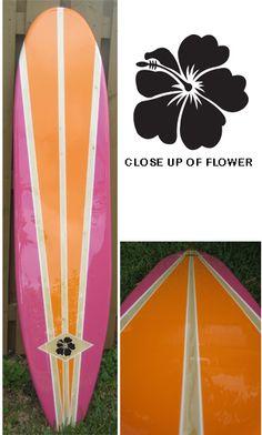 TIKI SOUL DECORATIVE SURFBOARD ART - Summertime  Surfboard decor, beach decor, surfer, decorative surfboard wall art