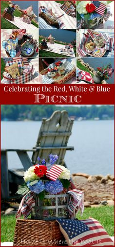 A Patriotic Picnic, celebrating the Red, White & Blue!