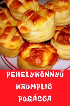 Hungarian Recipes, Cooking Recipes, Healthy Recipes, Soul Food, Baked Potato, Biscuits, French Toast, Bakery, Easy Meals