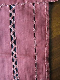Insertion stitches, by Lins Art, via Flickr