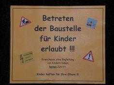 2012 - Thema Baustelle - Einladungskarte Vorderseite