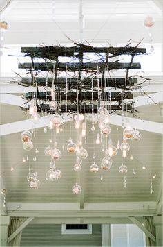 custom crystal and bulb lighting idea