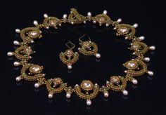 Juliet: A Beadwoven Collar Necklace. $650.00, via Etsy.