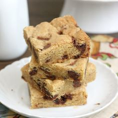 Nutella Chunk Cookie Bars