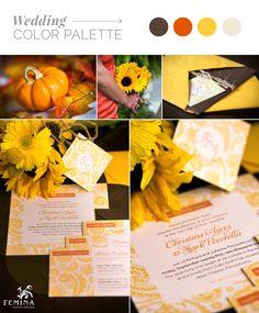 Femina Photo + Design specializes in wedding photography and custom wedding invitations, programs, table cards and more! Fall Wedding Invitations, Wedding Stationary, Orange Yellow, Burnt Orange, Tag Design, Custom Design, Table Cards, Paper Goods, Twine