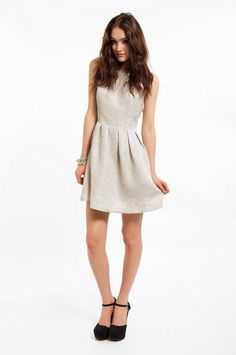 @Brittany Call Back Dress ~ TOBI in metallic grey