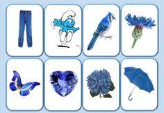 kleuren : lotto of memory : blauw Montessori Materials, Montessori Activities, Color Activities, Activity Games For Kids, Preschool Board Games, Teaching Colors, Teaching Kids, Preschool Color Theme, Color Games