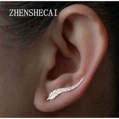2 Pairs 2017 Vintage Jewelry Exquisite Gold Color Leaf Earrings Modern Beautiful Feather Stud Earrings for Women e02
