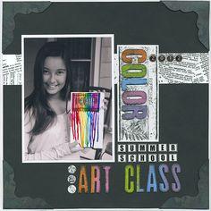 "Club Scrap Creates: Kay Williamson's ""Color"" - Layout I enjoyed making"