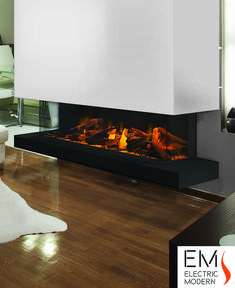 E60 3 Sided Electric Fireplace Clinic Interior Design Modern Flames Fireplace