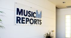 signage design for music reports, inc in woodland hills- this is the same EXACT building where Shape.com was when I did their branding #identity #branding #logo
