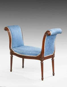 Mahogany Window Seat (England, circa 1775) | 1stdibs