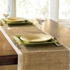 Eco Home Natural Banana Table Runner