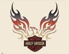 Harley-Davidson Eagle Flames