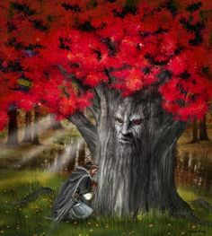 Ned praying by the Heart Tree...... The godswood at Winterfell in the North was a dark, primal place of three acres of old forest untouched for ten thousand years.