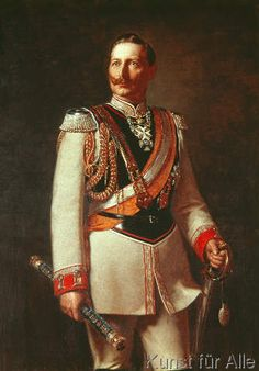 Ludwig Noster - Kaiser Wilhelm II in the parade uniform of the Garde du Corps