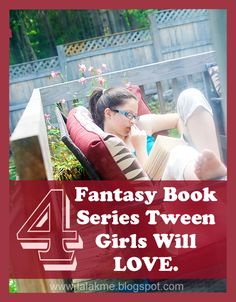 Have a tween girl (or boy) who loves reading fantasy books? Try these great series! #overstuffedlife