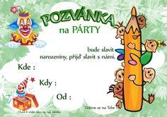 pozvanky_narozeniny_detske_1 Diy And Crafts, Ms