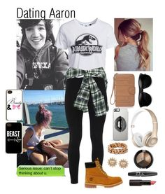 """""""Dating Aaron Carpenter"""" by imagine-5sos-1d ❤ liked on Polyvore featuring Faith Connexion, Peace of Cloth, New Look, Timberland, Lipsy, STELLA McCARTNEY, Carolee, NYX, Samsung and Imagine5sos1d_Imagines"""
