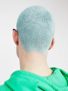 Short and blue! Would be very easy to do this style with hair chalk!