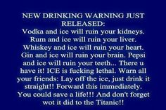 Drinking warning