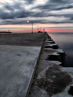 Burlington Canal South Pier at dawn | by Andrzej Pradzynski, via 500px