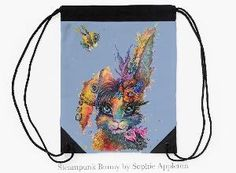www.sixfootsophie.co.uk Unusual Gifts, Eye Color, Steampunk, Rabbit, Bunny, Gift Ideas, Artist, Painting, Rabbits