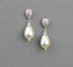 Bridal earrings wedding earrings Swarovski by LavenderByJurgita