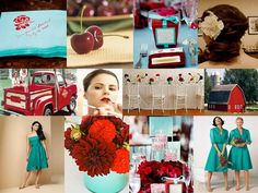 Teal + Red
