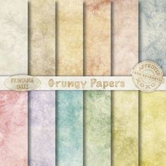 Grungy Background Papers Digital Paper Pack with door PrintableTales